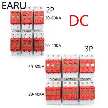 Protector de sobre tensión para rayos doméstico, dispositivo descargador de baja tensión PV solar de corriente nominal de 20 KA/30 KA, SPD 2P 3P DC 500V 800V 1000V 20KA ~ 40KA 30KA ~ 60KA 1