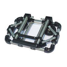 Capacidade de rolamento 30kg da bagagem do carro da bagagem de aço inoxidável de dobramento completo fácil transportar carrinhos de compras da mala do trole