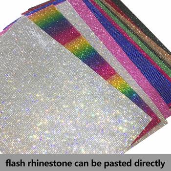 SS6 2mm AB kolory pełny szklany kryształowy dżet samoprzylepne siatki aplikacja Banding naklejki w rolce arkusz odzieży buty diy wykończenia tanie i dobre opinie CN (pochodzenie) Kreatywny Martwa natura Jednoczęściowy pakiet glass crystal