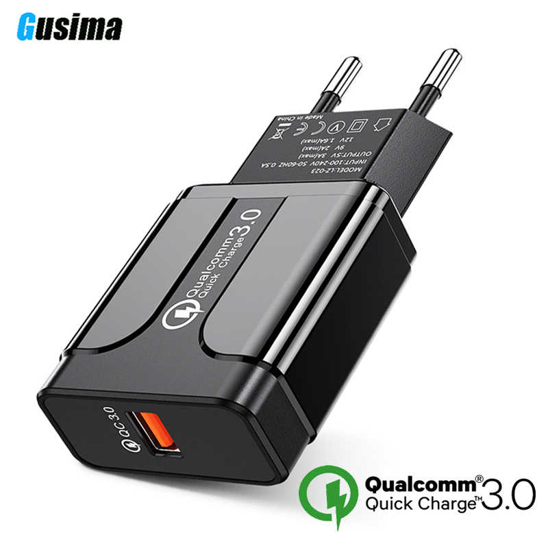 Quick Charge 3.0 18W Qualcomm QC 3.0 4.0 Fast charger USB portable Charging  Mobile Phone Charger For iPhone Samsung Xiaomi
