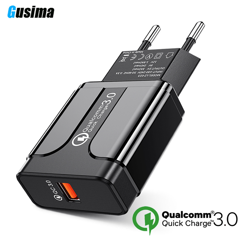 Quick Charge 3.0 18W Qualcomm QC 3.0 4.0 Fast charger USB portable Charging  Mobile Phone Charger For iPhone Samsung Xiaomi-in Mobile Phone Chargers from Cellphones & Telecommunications