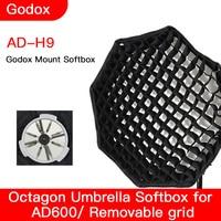 Godox AD600 DH9 90CM Octagonal Softbox with Honeycomb Flexible light box photographic equipment