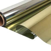 Złota i srebrna folia przeciwsłoneczna samoprzylepna reflow Drop-Shipping PET kontrola ciepła ochrona prywatności wielowarstwowa folia okienna