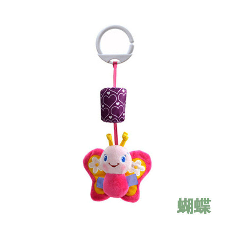 Infant Baby Pendant Plush Fabric Rattle Wind Chime Bed Bell Bedside Hanging Decoration Bed Hanging Trolley Toy 0-1-2-Year-Old