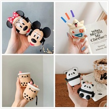 Earphone Case For Airpods Case Silicone Cartoon Cute Headphone Covers For Air Pods Cases For Apple
