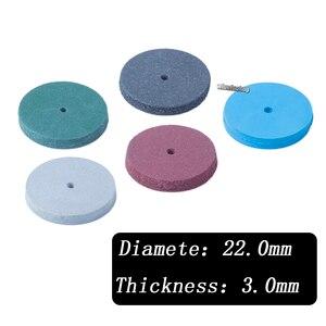 Image 5 - 100Pcs Diverse Dental Lab Polijsten Wielen Burs Siliconen Rubber Polijstmachines 5 Kleuren