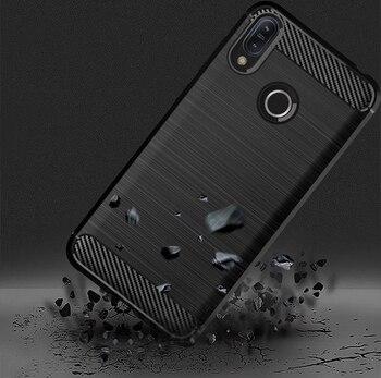 Перейти на Алиэкспресс и купить Чехол из углеродного волокна для Asus Zenfone Max Pro M2 ZB631KL ZB632KL ZB633KL чехол из ТПУ Мягкий Силиконовый Чехол Для Zenfone 6 ZS630KL бампер