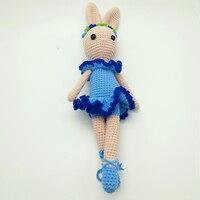 Hand Woven Baby Stuffed Plush Animals Toy Bunny Doll Cute Rabbit Sleeping Children Birthday Gift Creative handicraft Decorations