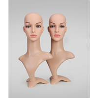 MISSQUEEN Female Mannequin Head High Quality Plastic Sunglass Jewelry Scarf Wigs Show Manican Head