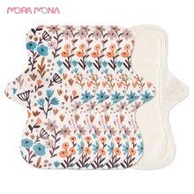 Mora Mona 5Pcs/Set Large Reusable Sanitary Pad Washable Hygiene Napkin Panty Liner Female Health Bamboo Fiber Menstrual Pads