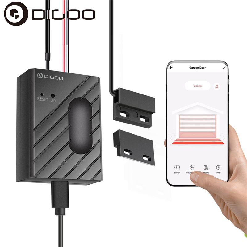 Garage Door Switch Smart Wifi Control Security Intelligence Door Switch ON/ OFF Sensor Work With Digoo Life App / Tuya Smart App