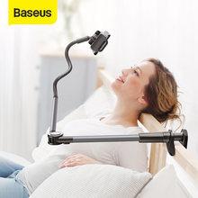 Baseus support confortable pour lit bureau support de téléphone de bureau bras Long Flexible support de support de téléphone portable support de pince de Table pour téléphone