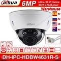 Dahua IPC-HDBW4631R-S 6mp poe câmera ip suporte 30 m ir ik10 ip67 poe h.265 sd slot para cartão wdr atualizar a partir de IPC-HDBW4431R-S
