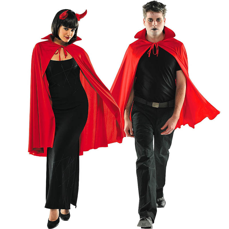 Adult Holloween Costumes Vampire Capes Hooded Robes Halloween Cloak Full Length