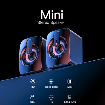 Bluetooth Wired Speakers Computer Speaker Stereo Bass Sound box Subwoofer Music Player for PC Laptop Desktop loudspeakers Column 4