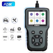 FDIK OBD2 Scanner V311 Code Reader Car Diagnostics Tool Check Engine Testing Herramientas Automotive Scanner OBD2 PK ELM327