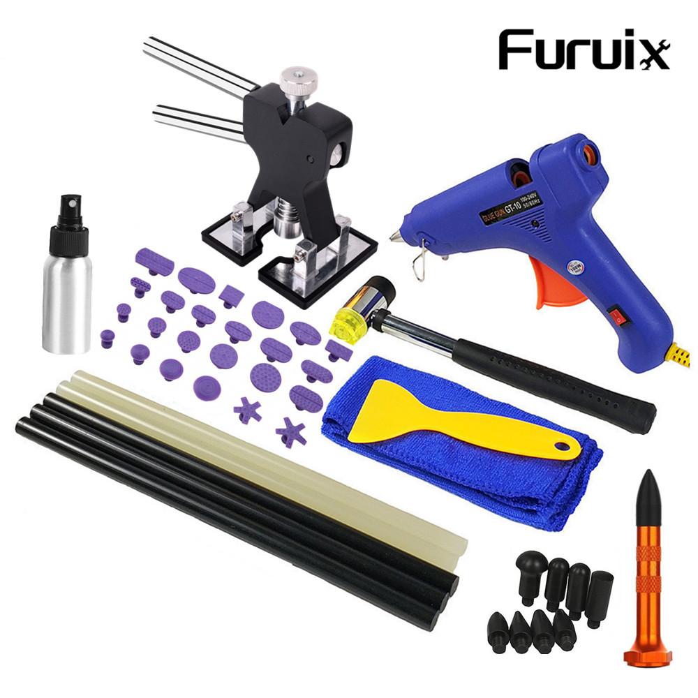 Car Body Paintless Dent Repair Tools Dent Repair Kit Car Dent Puller With Glue Puller Tabs Removal Kits For Vehicle Car Auto Special Offer Ccb88 Cicig