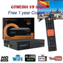 DVB-S2 GTmedia V9 Super Europe Cline cccam Spain Portugal 1080P Satellite TV Receiver Same GTmedia V8 Nova Freesat V9 Super dazn