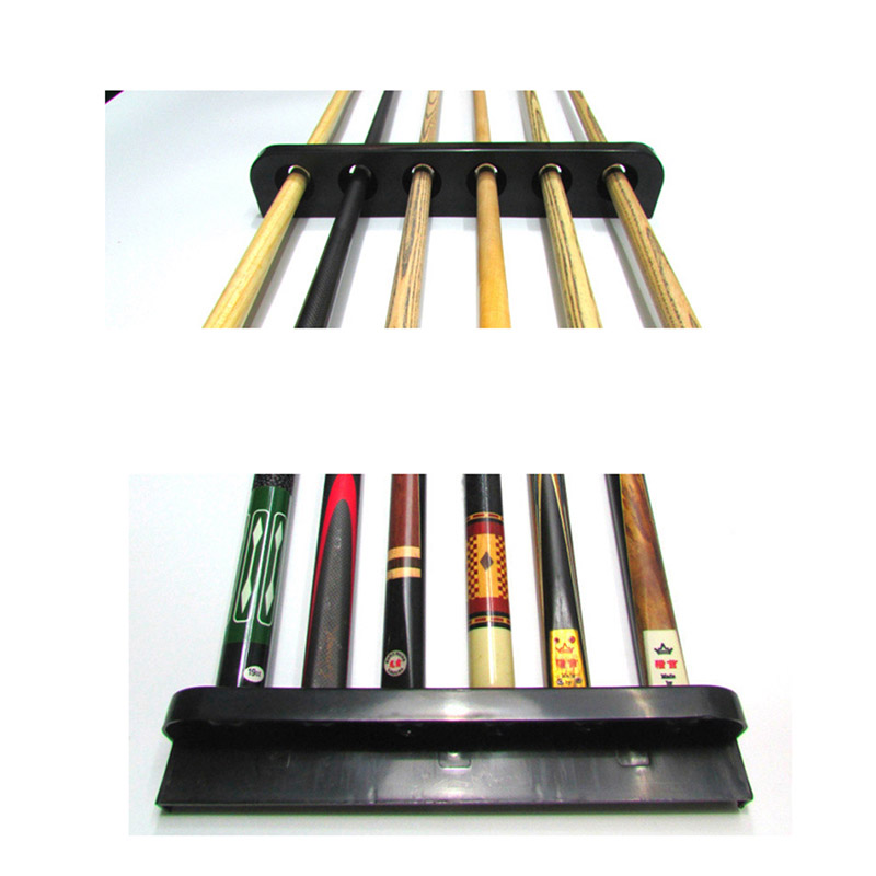 High Quality 1 Pair High Quality Plastic Billiards Pool Snooker Cue Stick Rack Holder 6 Holes Billiard Accessories Cue Rack