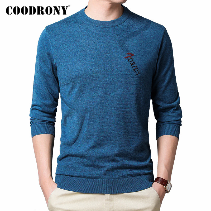 COODRONY Brand Sweater Men Casual O-Neck Pullover Men Clothes Spring Autumn Fashion Soft Cotton Knitwear Pull Homme Shirt C1034