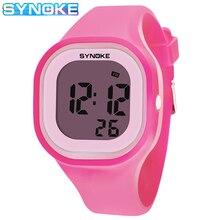 Дети% 27 часы старше 12 лет старый SYNOKE бренд цифровой часы водонепроницаемый студенты мальчики часы спорт наручные часы для девочки ребенка