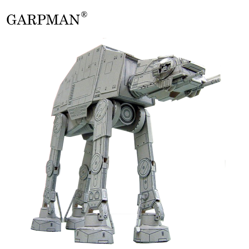 20cm Length Star Wars All Terrain Armored Walker AT-AT 3D Paper Model ATAT Papercraft Toy image