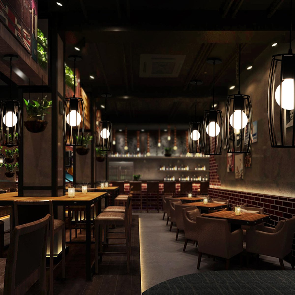 Vintage suspension Loft éclairage cuisine barre plafonnier luminaires salle à manger boutique barre décoration suspension - 6