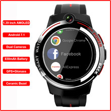 Smart Watch Android 7.1 4G GPS 1.39''AMOLED Screen Dual Camera Mobile Phone Call Heart Rate Men Reloj Inteligente PK Kospet HOPE