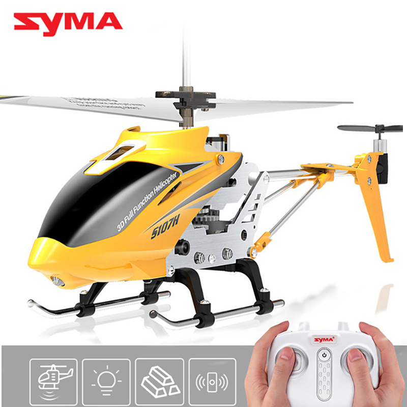 Original SYMA S107H Pneumatic alloy helicopter remote control helicopter with LED light children