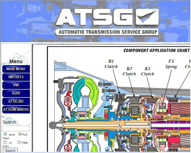 Auto Repair Software 2017 ATSG (Automatic Transmissions Service Group Repair Information) Repair Manual Diagnostics Software