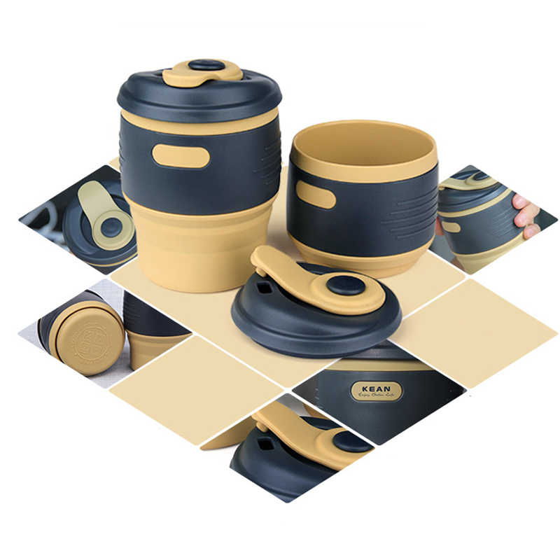 Portable Folding Silicone Coffee Cup For Travel Office Camping Tea Mug
