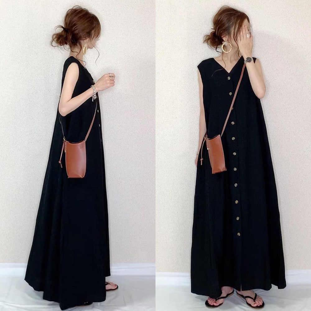 Sommer Plain Frauen Kleid 19 Janpan Koreanische Art Sleeveless
