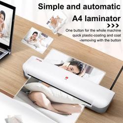 Máquina laminadora A4, máquina laminadora térmica portátil con 10 bolsas, calentamiento rápido y sin burbujas para uso en casa/oficina/escuela/