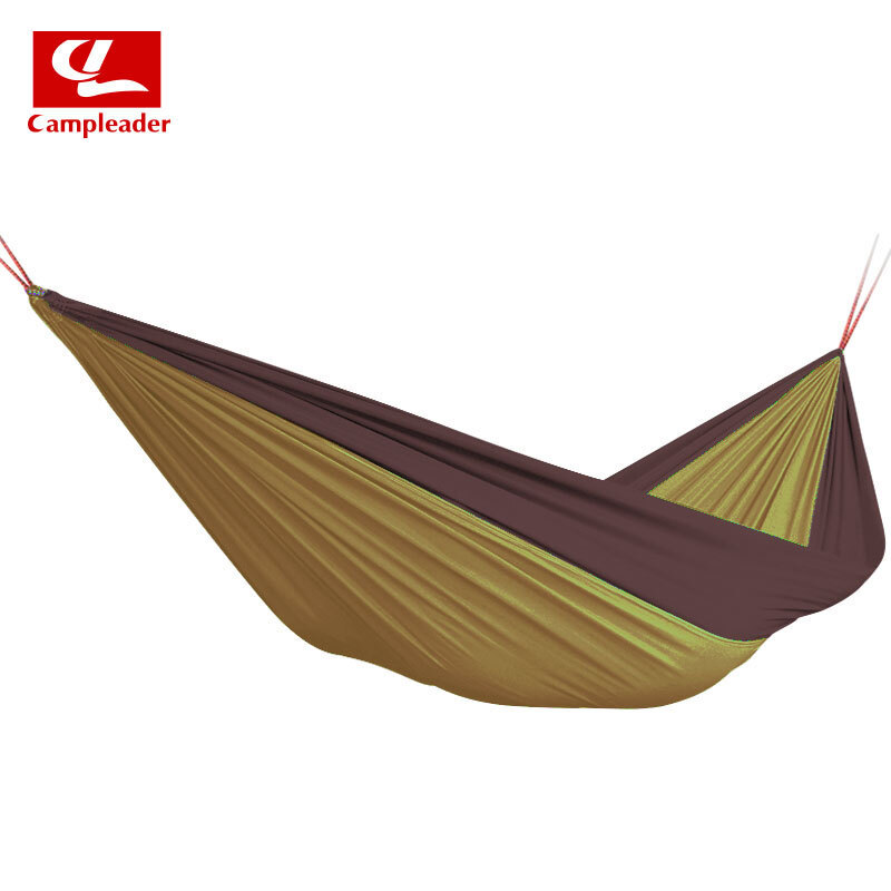Outdoor Double Light Weight Parachute Cloth Hammock Camping Students Dormitory Swing Indoor Hanging Chair Double