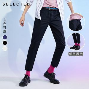 Image 3 - SELECTED new mens elastic cotton solid color simple slim casual pants C