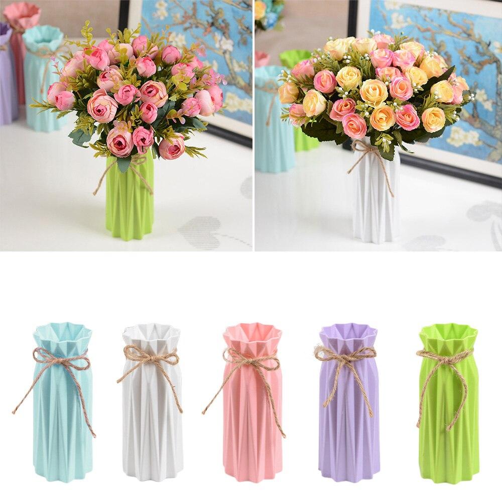 Nordic Minimalism Flower Pot Geometric Origami Vases Flowerpot For Homes Plant Arrangement Pot Vase Decoration Home High Quality