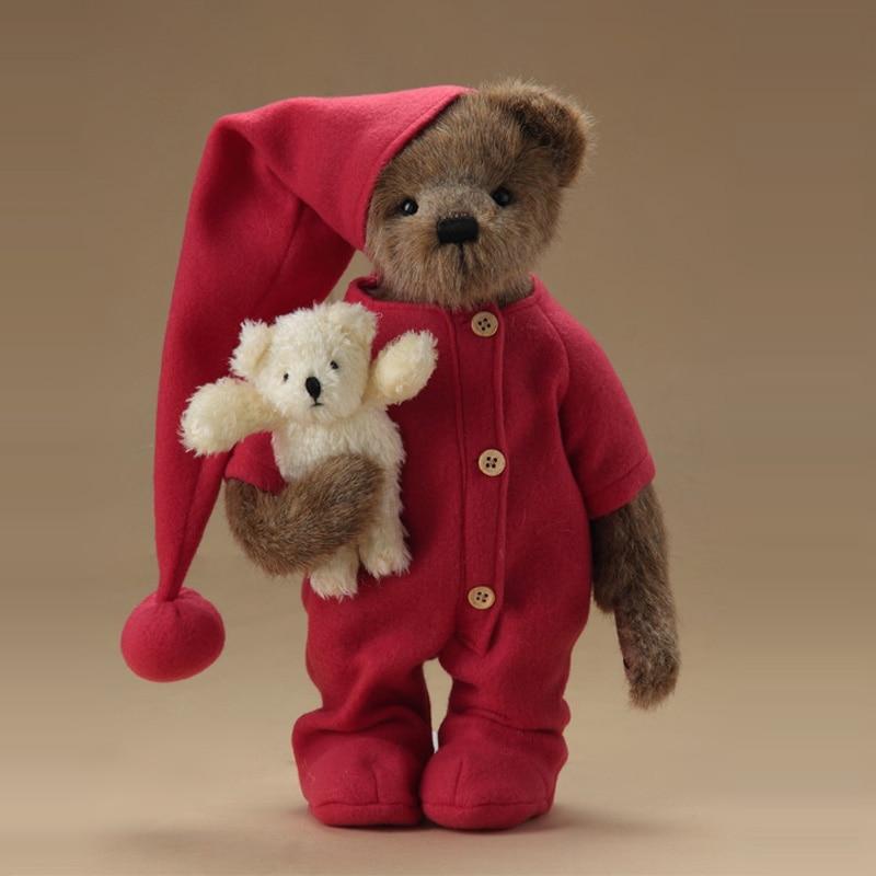 Christmas BODYSUIT Teddy Bear Plush Stuffed Toys With Clothes Plush Joint Teddy Bear Doll Kids Toys Girl Birthday Christmas Gift