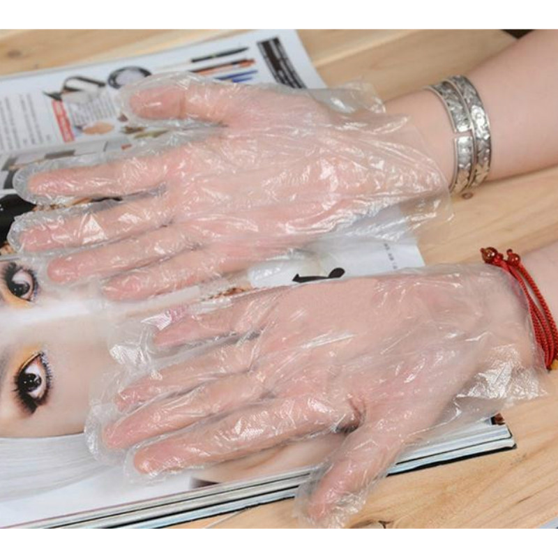 100PCS/LOT PE Chemistry Lab Gloves Supplies School Eco-friendly Disposable Gloves Stationery Accessories Wholesale
