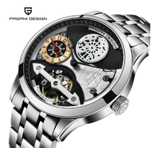 PAGANI DESIGN Mens Fashion Mechanical Watches Luxury Tourbillon Man Steel Watch Business Men mens watches skeleton