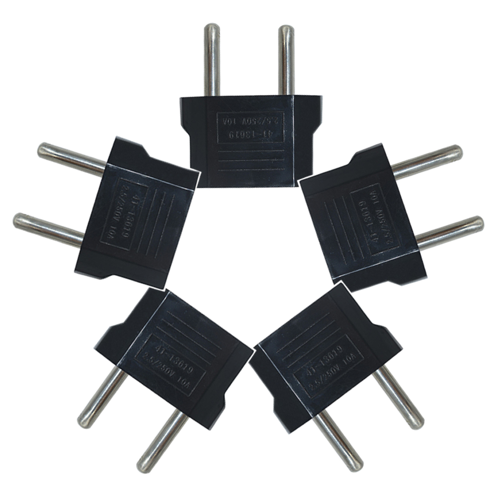 Hot 5Pcs US//USA to European Euro EU Travel Charger Adapter Plug Outlet Converter
