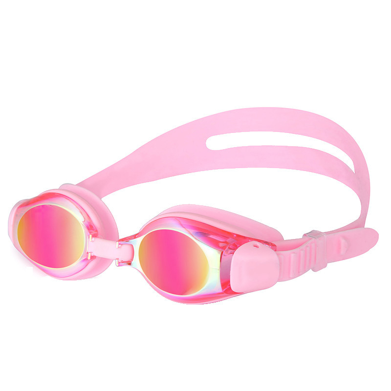 [Boxed Goggles] For Kids Electroplating Goggles Waterproof Anti-fog Beach Swimming Goggles Equipment Mc529