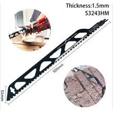 Reciprocating viu lâminas para cortar concreto poroso vermelho tijolo pedra alvenaria sabre serra lâmina carboneto ferramenta de corte s3243hm