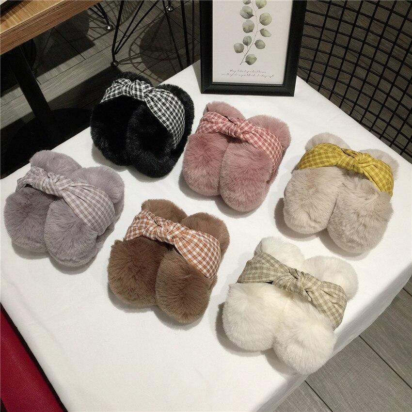 Fashion Women Girl Fur Winter Ear Warmer Earmuffs Cat Ear Muffs Earlap Glitter Sequin Earmuffs Winter Warmer Round Earwarmer