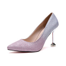 High Heels Female Shoes Woman Fine With Super High Single Shallow Mouth Shoes Pointed Toe Solid Color Occupation Women's Shoes cinderella slipper shallow mouth high heels bridal shoes diamond wedding shoes fine with pointed shoes