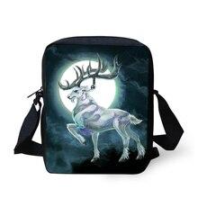 HaoYun Fashion Womens Messenger Bags Fantasy Moon Deer Pattern Girls Cross Body Bag Cartoon Animal Mini Flaps Purse