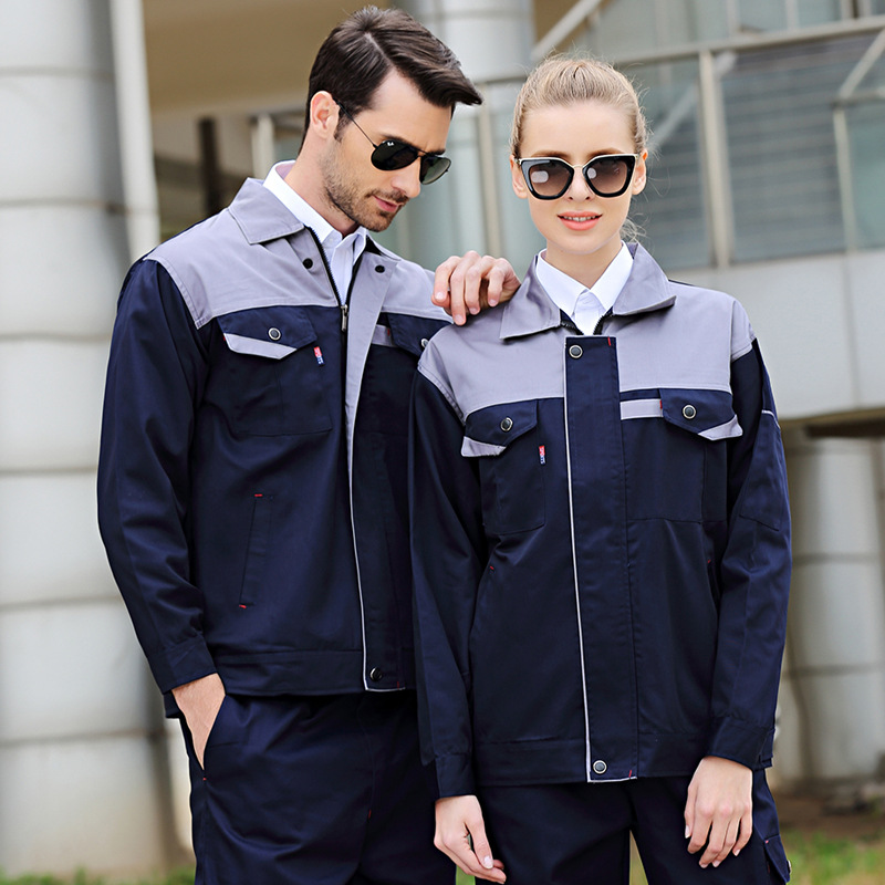 Working Clothing Workwear Clothes Men Women Overalls Workmen Uniform Car Workshop Fashion Work Suit Mechanical Workshop Jackets