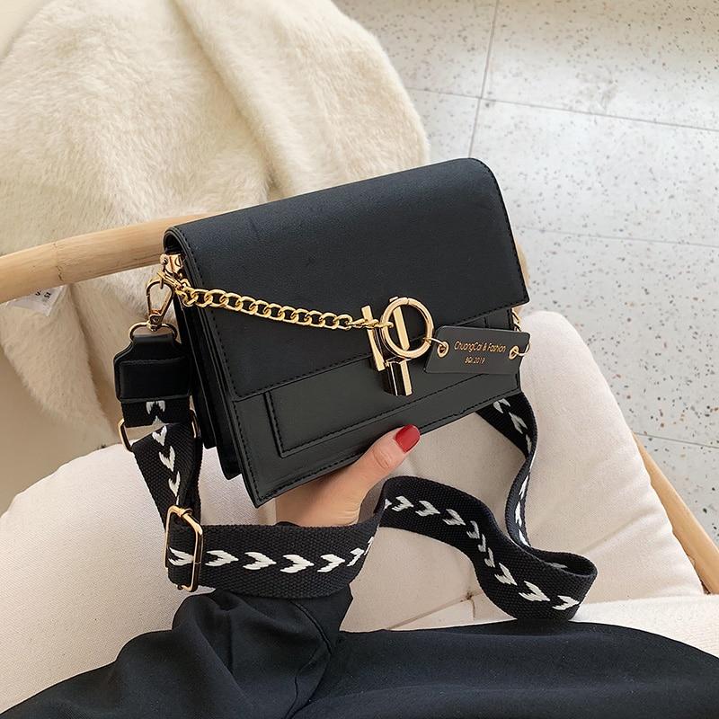 Olsitti feminino mini bolsas bolsa de ombro crossbody sacos para as mulheres 2020 moda ampla alça ombro saco do mensageiro aleta