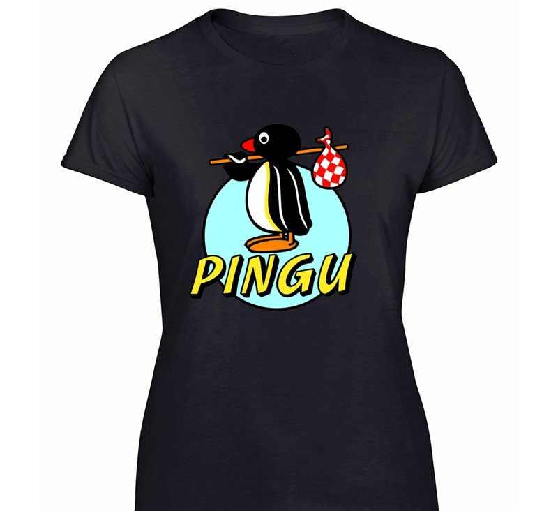 Druck Entwicklung Pingu T-shirt Mann Hipster Buchstaben Erwachsene T-Shirts Crew Neck Solid Farbe 2019 Kurze Hip-Hop