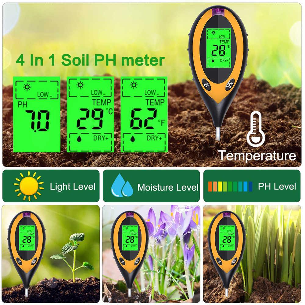3 / 4 / 5 в 1 прибор для измерения уровня PH тестер измеритель влажности Температура влажности завод светильник солнечный светильник тестер измерения анализа