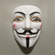 New Black V for Vendetta Mask Cosplay Costume Accessory Masquerade Movie Guy Fawkes Halloween Party Horror